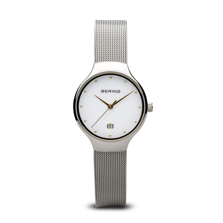 Bering Womens Classic Polished Silver Watch 13326-001