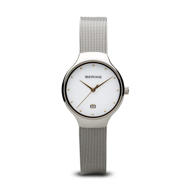 Bering Womens Classic Polished Silver Watch 13326-001 - Robert Openshaw Fine Jewellery