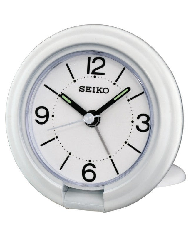 SEIKO WHITE TRAVEL ALARM QHT012W - Robert Openshaw Fine Jewellery