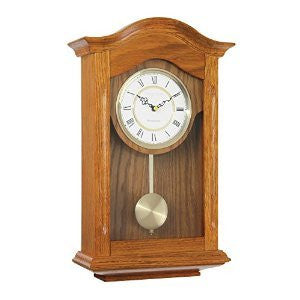 LONDON CLOCK CO LIGHT OAK PENDULUM CLOCK 25058