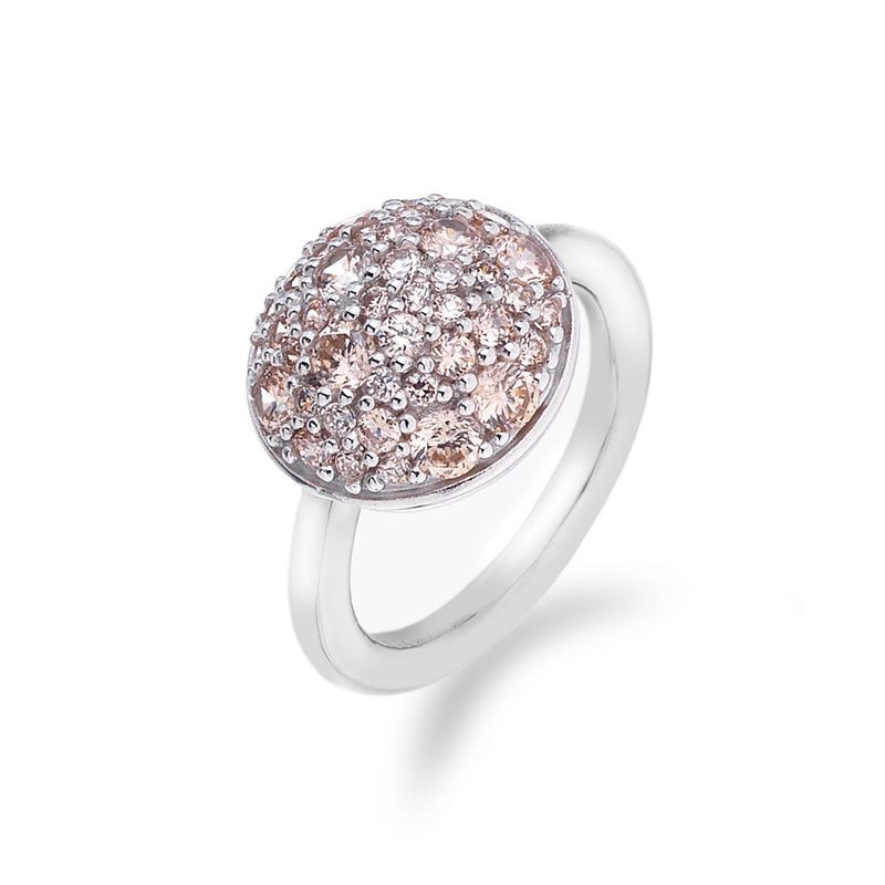 Hot Diamonds Bouquet Champagne Sterling Silver Ring ER009