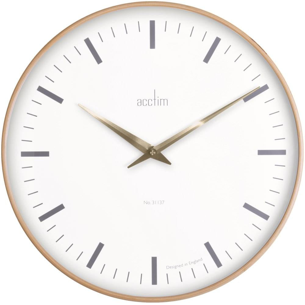 "Acctim ""Bonde XL"" 41cm Bent Wood Wall Clock 25001 - Robert Openshaw Fine Jewellery"