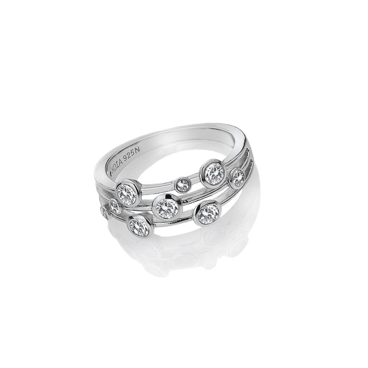 Hot Diamonds Silver Tender Statement Ring DR207