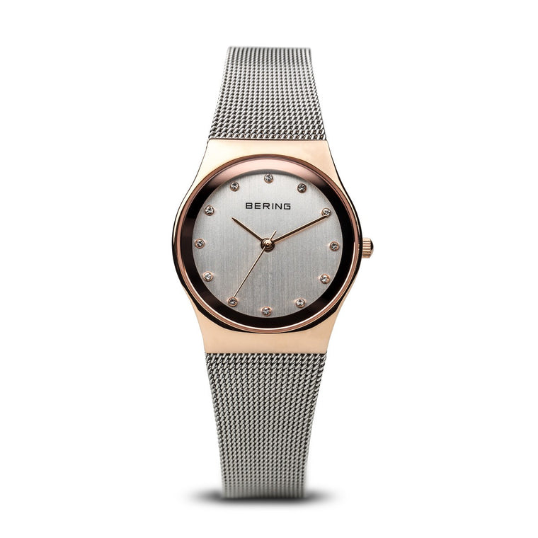 Bering Womens Classic Polished Rose Gold Watch 12927-064