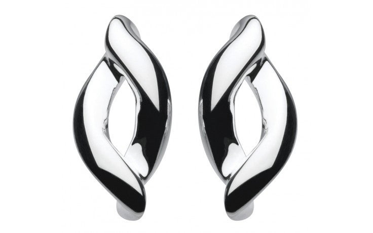KIT HEATH SILVER EMBRACE STUD EARRINGS 40TVHP