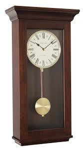 LONDON CLOCK CO 41CM MAHOGANY PENDULUM CLOCK 24262