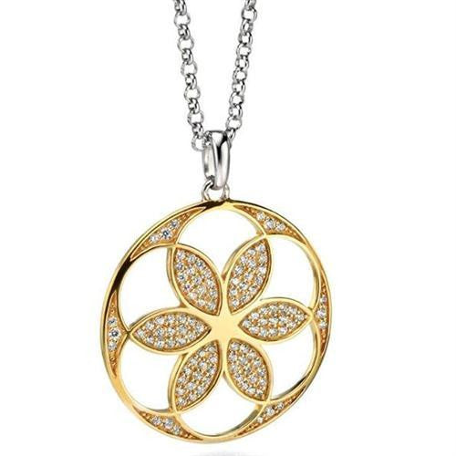 FIORELLI SILVER AND GOLD PLATED PENDANT P4117C