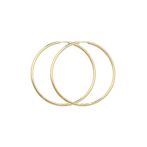 9ct Yellow Gold 22mm Sleepers ES122