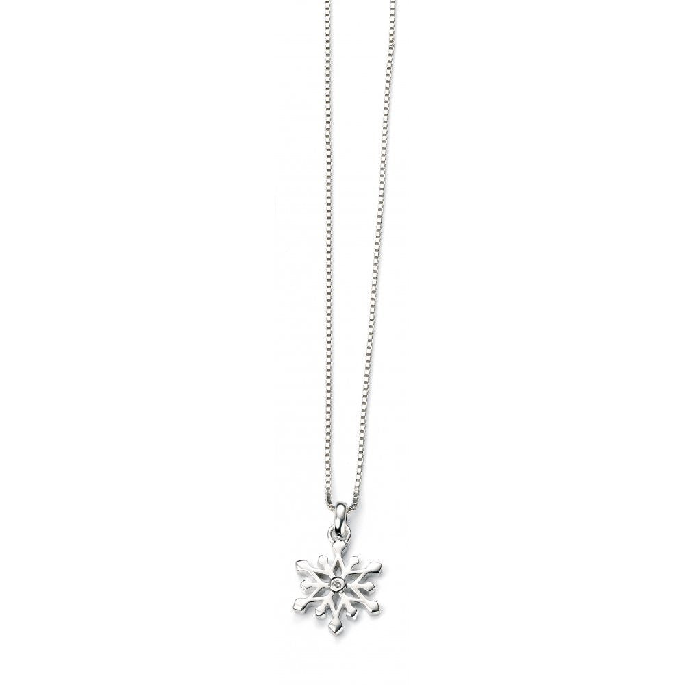 D for DIAMOND CHILDS SNOWFLAKE PENDANT P4185 - Robert Openshaw Fine Jewellery