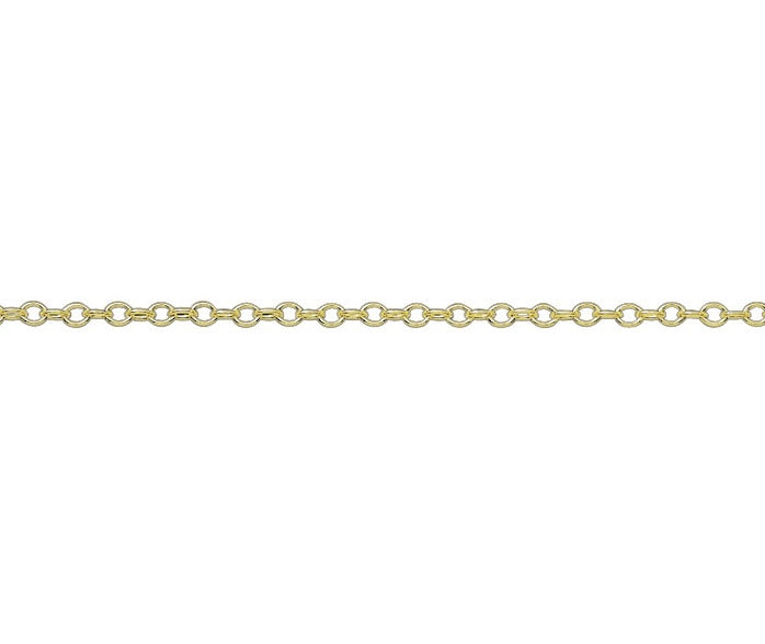 "9ct Yellow Gold 18"" Trace Chain G1416A18"