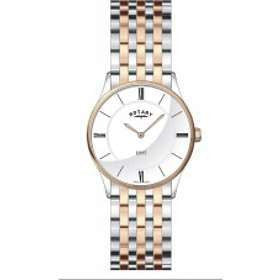 ROTARY LADIES ULTRA SLIM TWO TONE BRACELET WATCH LB08202/01