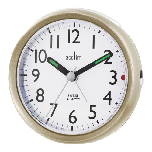 "Acctim ""Ffion"" Sweep Alarm in Champagne/Chrome 15240 - Robert Openshaw Fine Jewellery"