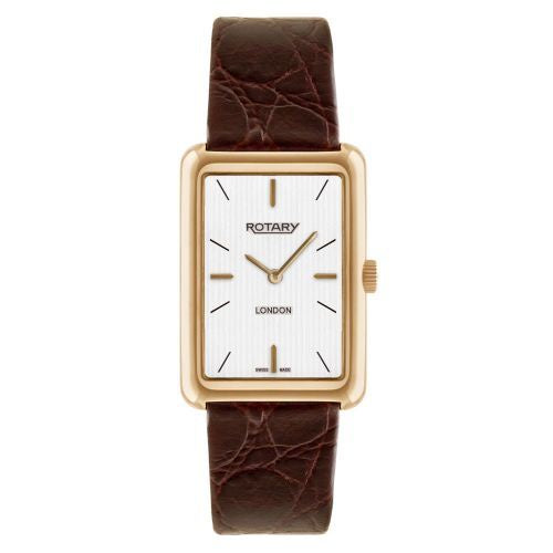 ROTARY GENTS GOLD PLATRED STRAP WATCH GS90991/02 - Robert Openshaw Fine Jewellery