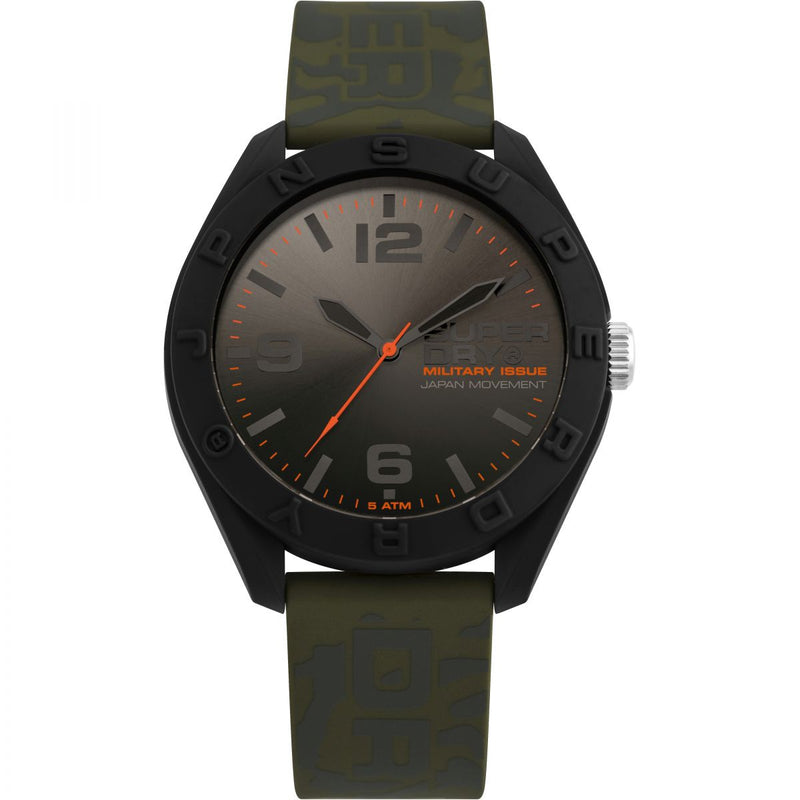 Superdry Osaka Camo Khaki Silicon Watch SYG242N - Robert Openshaw Fine Jewellery