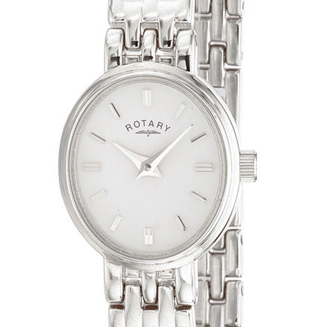 Rotary Timepieces Ladies White Case Watch LB02083/02