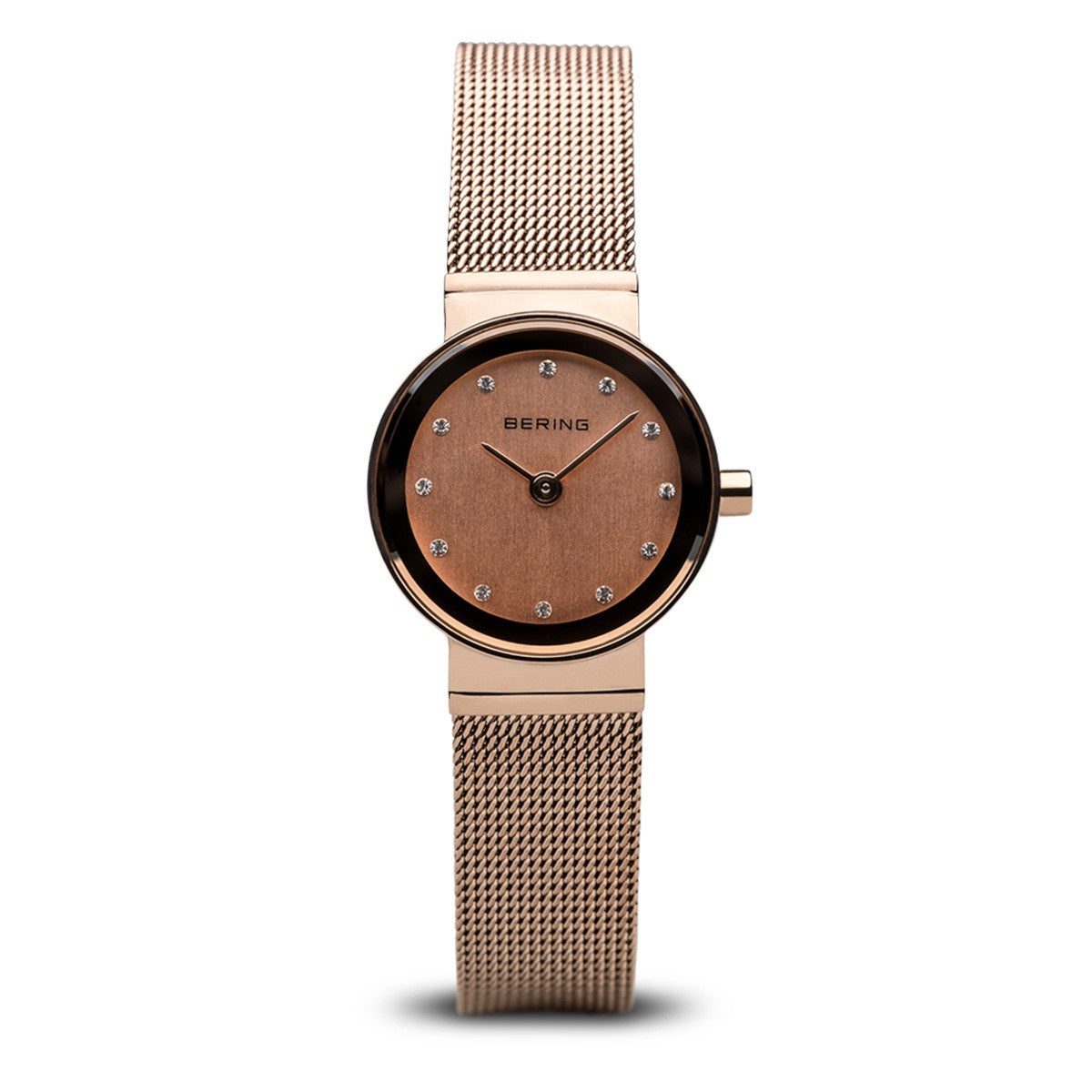 Bering Womens Classic Polished Rose Gold Watch 10122-366 - Robert Openshaw Fine Jewellery