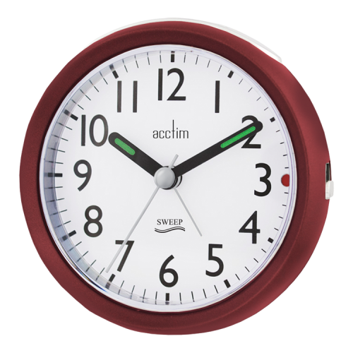 "Acctim ""Ffion"" Sweep Alarm in Red 15244 - Robert Openshaw Fine Jewellery"