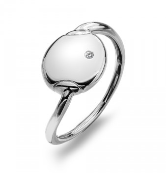 HOT DIAMONDS SILVER LINAR RING DR151 - Robert Openshaw Fine Jewellery