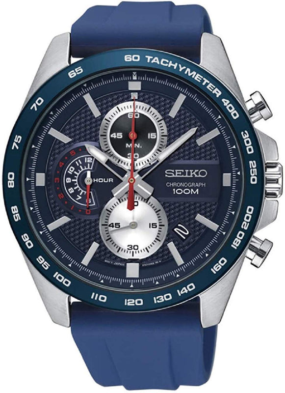 Seiko Mens Chronograph Strap Watch SSB289P1