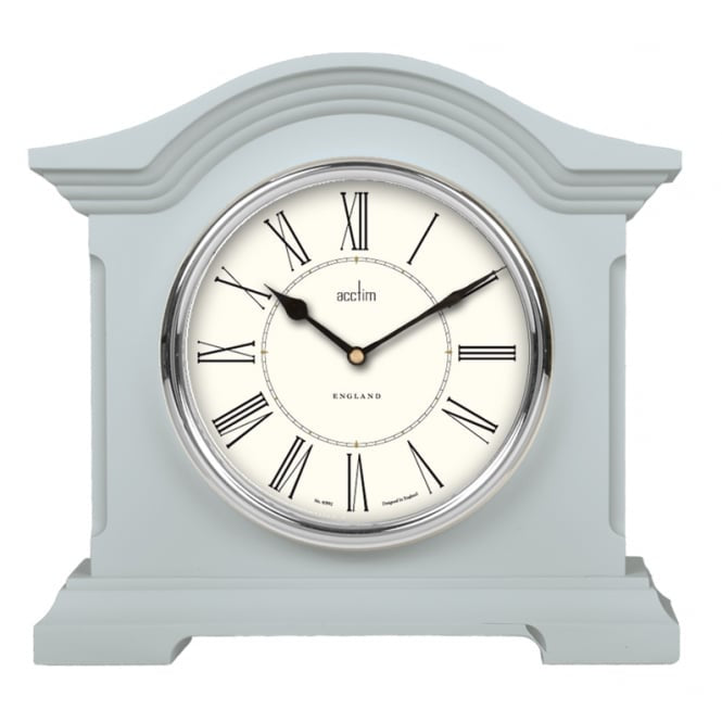 "Acctim ""Cliffburn"" Mantle Clock in Soft Blue 33799 - Robert Openshaw Fine Jewellery"