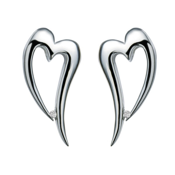 Hot Diamonds Silver Just Add Love Earrings DE100