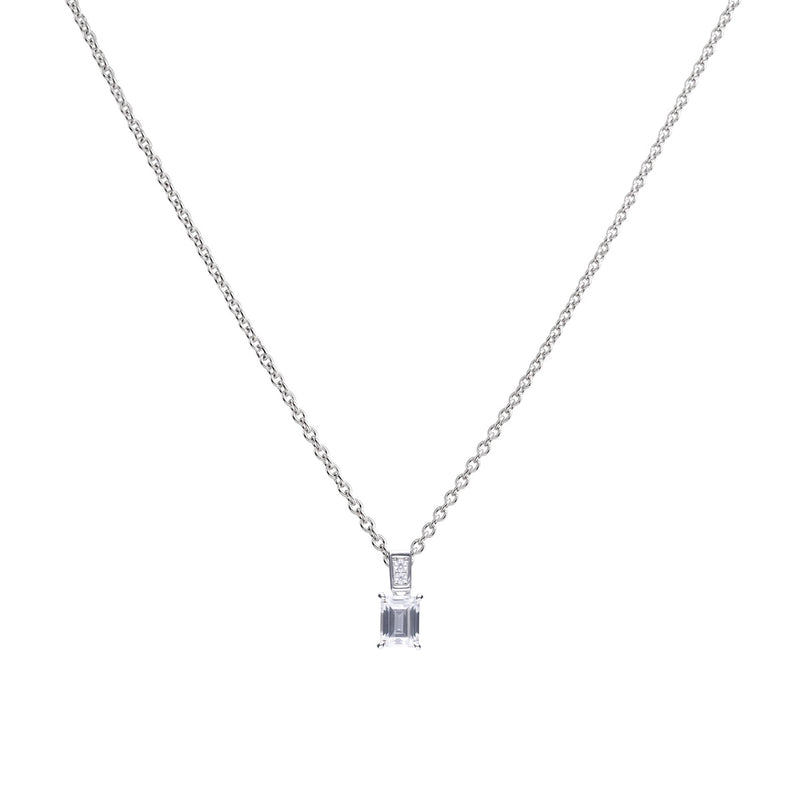 Diamonfire Emerald Cut Pendant P4784