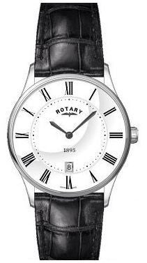 ROTARY GENTS 1895 ULTRA SLIM STRAP WATCH WITH DATE GS08200/01