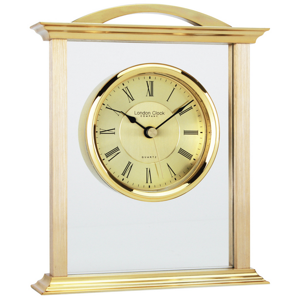 LONDON CLOCK CO GOLD MANTLE CLOCK 03023 - Robert Openshaw Fine Jewellery