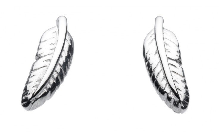 SILVER FEATHER STUDS 48258HP007