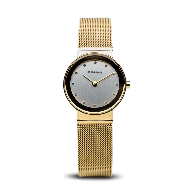 Bering Womens Classic Polished Gold Watch 10126-334