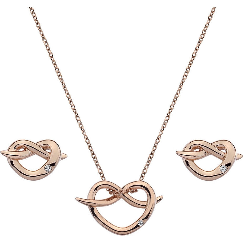 Hot Diamonds Infinity Heart Rose Gold Gift Set SS113 - Robert Openshaw Fine Jewellery