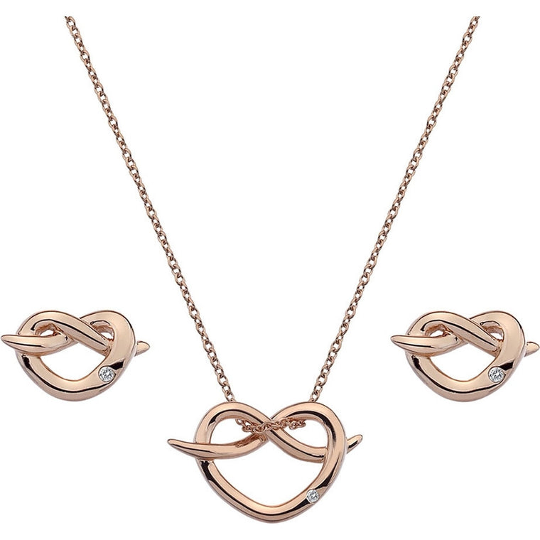 Hot Diamonds Infinity Heart Rose Gold Gift Set SS113