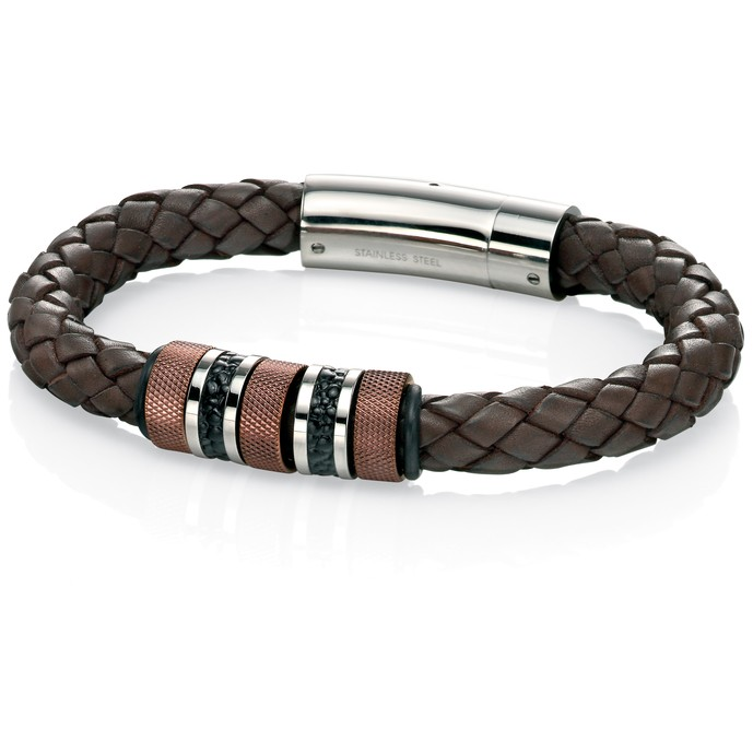 Fred Bennett Leather Bracelet B4376 - Robert Openshaw Fine Jewellery