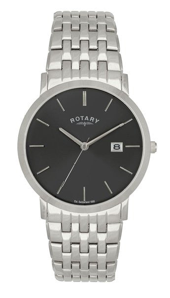 ROTARY GENTS BLACK DIAL BRACLET WATCH GB02622/20 - Robert Openshaw Fine Jewellery