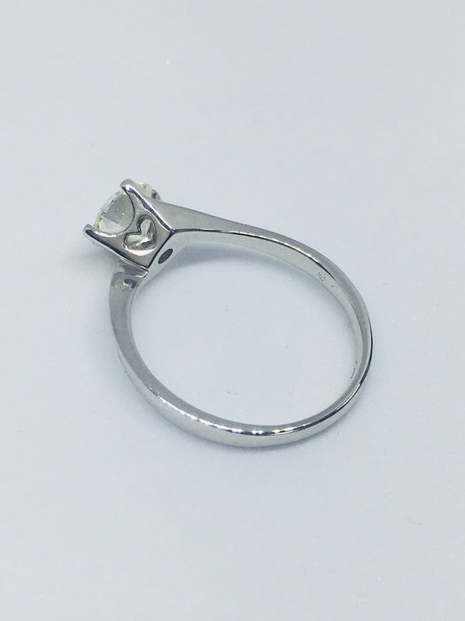 18ct White Gold Round Brilliant Cut 1.06cts Diamond Ring