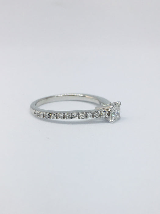 Platinum 0.52ct Princess Cut Diamond Ring