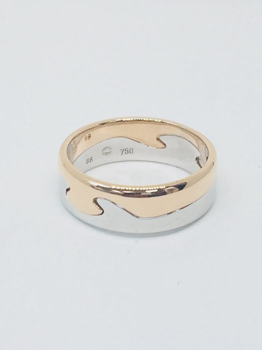 18ct Georg Jensen Fusion 2 Piece Ring Rose & White Gold 12012018A - Robert Openshaw Fine Jewellery