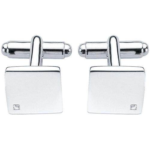 Fred Bennett Silver & Diamond Cufflinks V208