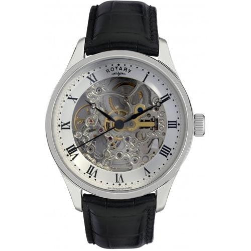 ROTARY SKELETON STRAP WATCH GS02518/06