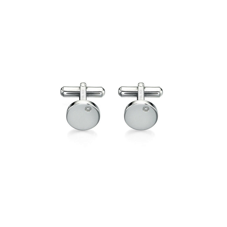 FRED BENNETT CLEAR CZ CUFFLINKS V423