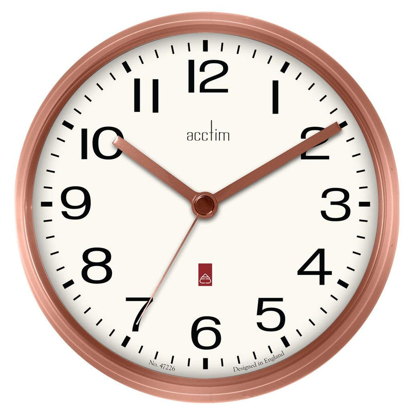 "Acctim ""Alvis"" 20cm Wall Clock in Copper 29238 - Robert Openshaw Fine Jewellery"