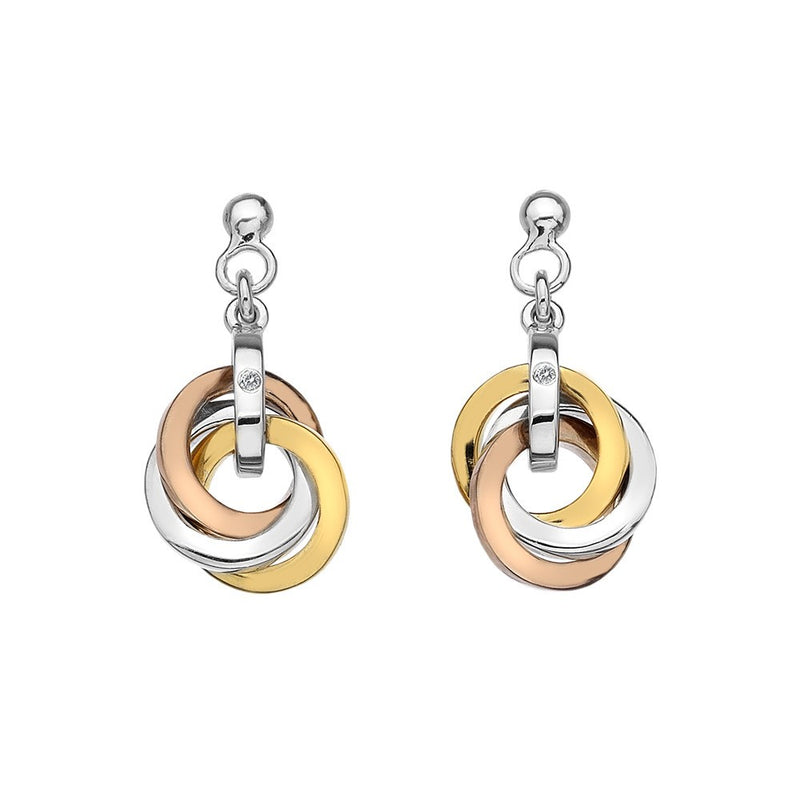 Hot Diamonds Silver & Rose Plated Calm Earrings DE389