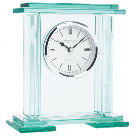 LONDON CLOCK CO GLASS TABLE CLOCK 05089 - Robert Openshaw Fine Jewellery