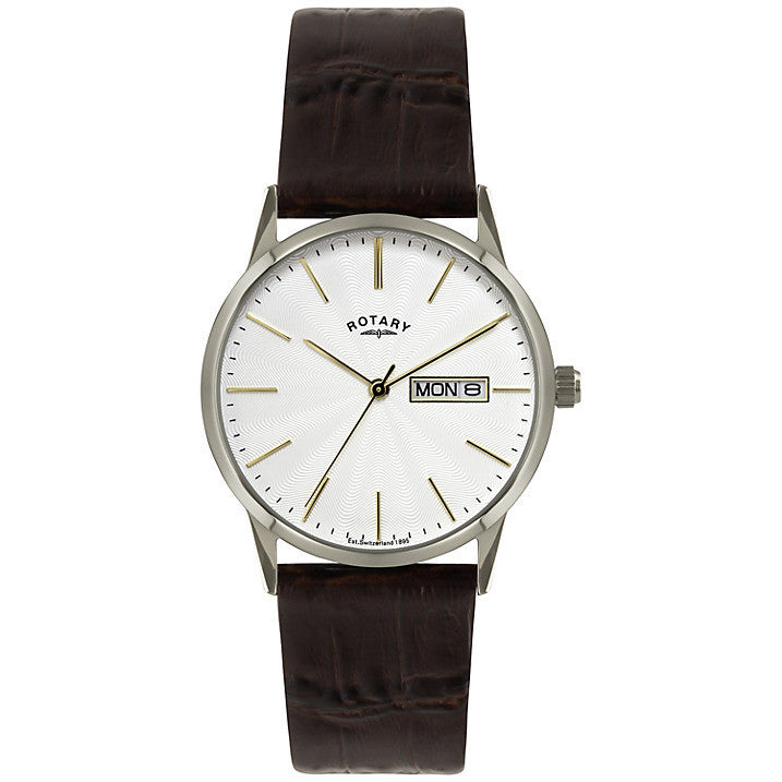 ROTARY GENTS LEATHER STRAP WATCH GS02750/04