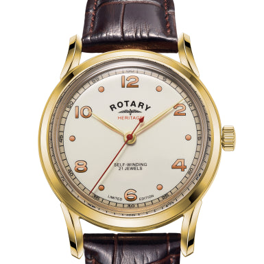 Rotary Mens Limited Edition Heritage Gold PVD Automatic  GS05143/03