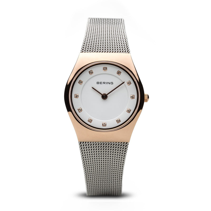 Bering Womens Classic Polished Rose Gold Watch 11927-064 - Robert Openshaw Fine Jewellery
