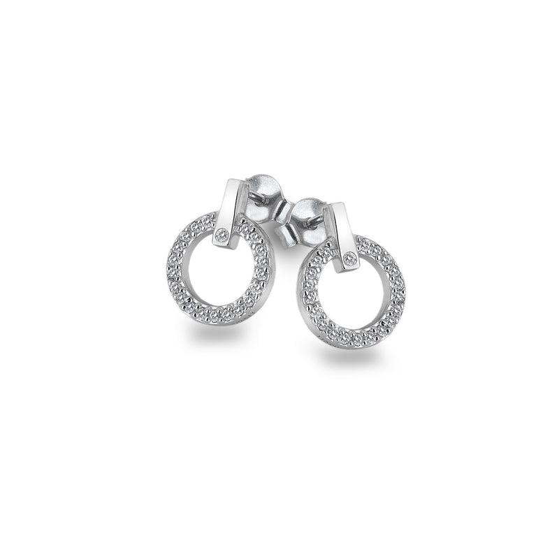 Hot Diamonds Silver Constant Circle Earrings DE580