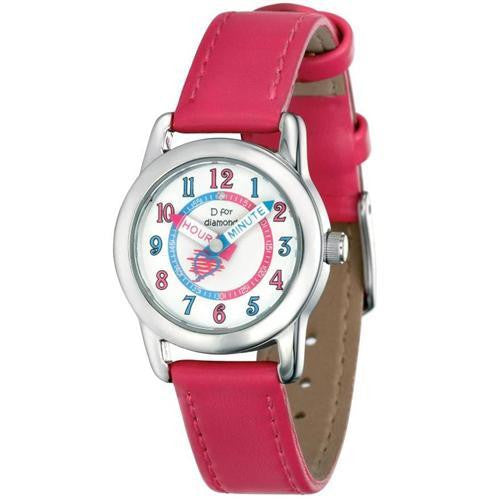 D for DIAMOND FUSCHIA GIRLS WATCH Z831 - Robert Openshaw Fine Jewellery