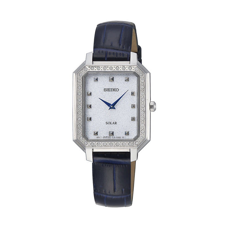 Seiko Ladies Leather Strap Watch SUP429P1