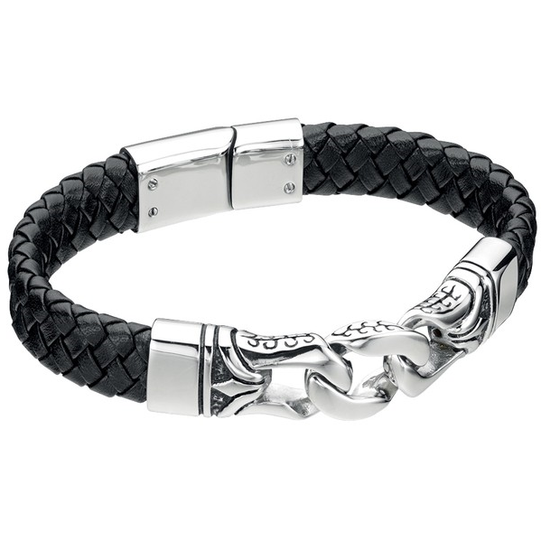 Fred Bennett Leather Bracelet B3897 - Robert Openshaw Fine Jewellery